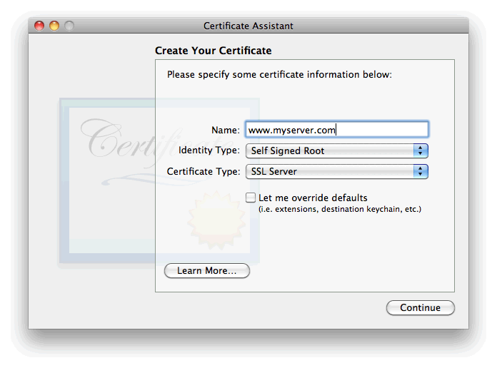 Generate Csr For Apple Mac Os X Server 106 Snow Leopard At Quality Ssl